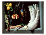 Still Life with Dead Birds, Fruit and Vegetables, 1602 Giclee Print by Juan Sanchez Cotan