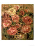 Flowers, 1913-19 Reproduction proc&#233;d&#233; gicl&#233;e par Pierre-Auguste Renoir