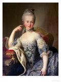 Archduchess Marie Antoinette Habsburg-Lotharingen (1755-93) Giclee Print by Martin van Meytens