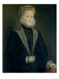 Anne of Austria, Queen of Spain (1549-80), Wife of Philip II of Spain (1527-98), circa 1573 Gicle-tryk af Sofonisba Anguisciola