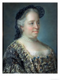 Maria Theresa, Empress of Austria, 1762 Giclee Print by Jean-Etienne Liotard