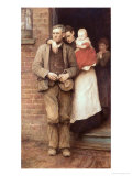 On Strike, circa 1891 Giclee Print by Hubert von Herkomer