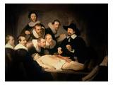 The Anatomy Lesson of Dr. Nicolaes Tulp, 1632 (Oil on Canvas) Giclee Print by Rembrandt van Rijn