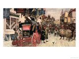 "The Election Parade at Eatanswill, from ""The Pickwick Papers"" Giclee Print by Albert Ludovici II"