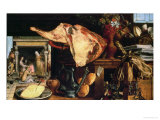 Vanitas Still Life (Christ with Mary and Martha), 1552 Giclee Print by Pieter Aertsen