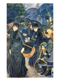 The Umbrellas, C.1881-6 (Oil on Canvas) Giclee Print by Pierre Auguste Renoir