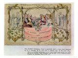 Christmas Card, Example of the First Known Christmas Card Being Used, 1843 Giclee Print by John Callcott Horsley