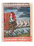 Venus Comes to the Rescue on a Chariot Drawn by Six White Doves, Bruges, circa 1487-95 Giclee Print by Master of the Prayer Books