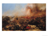 The Battle of Sebastopol, Left Section of Triptych, after 1855 Giclee Print by Jean Charles Langlois