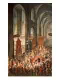 The Investiture Joseph II (1741-90) Following His Coronation as Emperor of Germany in Frankfurt Giclee Print by Martin van Meytens