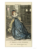 Sarah Siddons (1755-1831) as Lady Macbeth, 19th Century Giclee Print