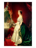 Empress Eugenie of France (1826-1920) Wife of Napoleon Bonaparte III (1808-73) Giclee Print by Franz Xavier Winterhalter