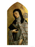 St. Clare, Panel from a Polyptych Removed from the Church of St. Francesco in Padua Giclée-Druck von A. Vivarini