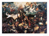 The Fall of the Rebel Angels, 1562 Gicleetryck av Pieter Bruegel the Elder