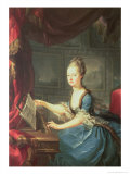 Archduchess Marie Antoinette Habsburg-Lothringen (1755-93) at the Spinnet Giclee Print by Franz Xaver Wagenschon