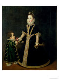 Girl with a Dwarf, Thought to be a Portrait of Margarita of Savoy Gicle-tryk af Sofonisba Anguisciola