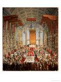 Coronation Banquet of Joseph II in Frankfurt, 1764 Giclee Print by Martin van Meytens