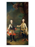 Joseph and Leopold, Sons of Francis I and Maria Theresa of Austria, Later Joseph II and Leopold II Giclee Print by Martin van Meytens