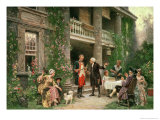 George Washington (1732-99) at Bartram's Garden, 1774, Giclee Print