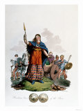 Boadicea, Queen of the Iceni (1st Century), Designed by C. H.S., Aquatinted and Pub. 1815, Giclee Print