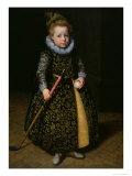 Portrait of a Four-Year Old Boy with Club and Ball, 1611 Giclee Print by Paulus Moreelse