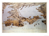 Panoramic View of the Sea of Azof Showing the Allied Position, from Government Charts and Plans Giclee Print by Augustus Butler
