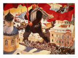The Bolshevik, 1920 Giclee Print by Boris Kustodiyev
