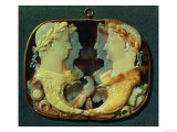 Gemma Claudia, a Cameo Bearing Profiles of Roman Emperors, Left: Claudius and His Wife Agrippina Giclee Print