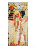 The Goddess Hathor Placing the Magic Collar on Seti I (circa 1394-1279 BC) Giclee Print