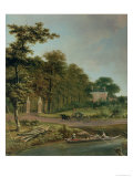 A Country House Giclee Print by J. Hackaert