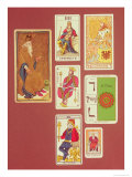 The Emperor, Seven Tarot Cards from Different Packs Giclee Print by William Minchin