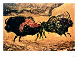 Rock Painting of Bison, circa 17000 BC Giclée-tryk