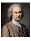 Portrait of Jean Jacques Rousseau (1712-78) Giclee Print by Maurice Quentin de La Tour