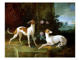 Misse and Turlu, Two Greyhounds of Louis XV Giclee Print by Jean-Baptiste Oudry