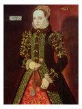 Elizabeth Fitzgerald, Countess of Lincoln, 1560 Giclee Print by Steven van der Meulen