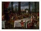 Wedding Banquet of Grand Duke Ferdinand I of Tuscany (1549-1600), 1590 Giclee Print by Domenico Cresti Il Passignano