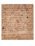 1895-9-15-503 W.34V Page of Handwriting Giclee Print by Michelangelo Buonarroti