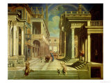 Emperor Augustus and the Sibyl, 1535 Giclée-tryk af Paris Bordone