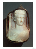 Agate Cameo, Bearing the Portrait of Emperor Claudius Giclee Print