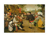 Peasant Dance, (Bauerntanz) 1568 Reproduction giclée Premium par Pieter Bruegel the Elder
