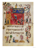 """We were Slaves Unto Pharaoh in Egypt,"" Barcelona (Hebrew Manuscript) Giclee Print"