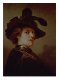 Self Portrait in Fancy Dress, 1635-36 Giclee Print by  Rembrandt van Rijn
