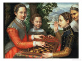 Game of Chess, 1555 Gicle-tryk af Sofonisba Anguisciola