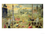 The Massacre of the Triumvirate, 1566 Premium Giclee Print by Antoine Caron