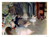 The Rehearsal of the Ballet on Stage, circa 1878-79 Giclée-Druck von Edgar Degas