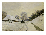 The Cart, or Road under Snow at Honfleur, 1865 (Oil on Canvas) Giclee Print by Claude Monet