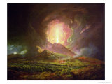 An Eruption of Vesuvius, Seen from Portici, circa 1774-6 Giclee Print by Joseph Wright of Derby