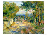 L'Estaque, 1882 Giclée-trykk av Pierre-Auguste Renoir