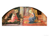 The Annunciation, circa 1450-3 Gicle-tryk af Fra Filippo Lippi