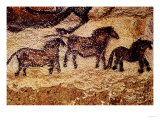 Rock Painting of Tarpans (Ponies), circa 17000 BC Giclee Print